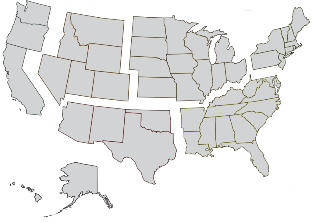 US Region Map for Precision